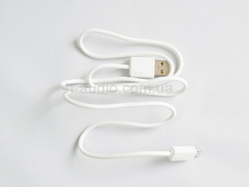 Оригинальный кабель для зарядки наушников и акустики Beats-белый