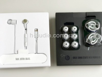 Наушники urBeats3  Matte Silver с разъемом Lightning Connector-б/у